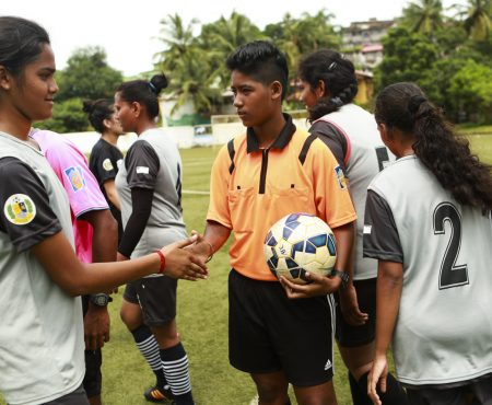 Josline Dsouza, a young woman meeting the challenges of refereeing in India