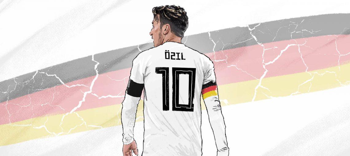 Mesut Özil and a disintegrating German flag