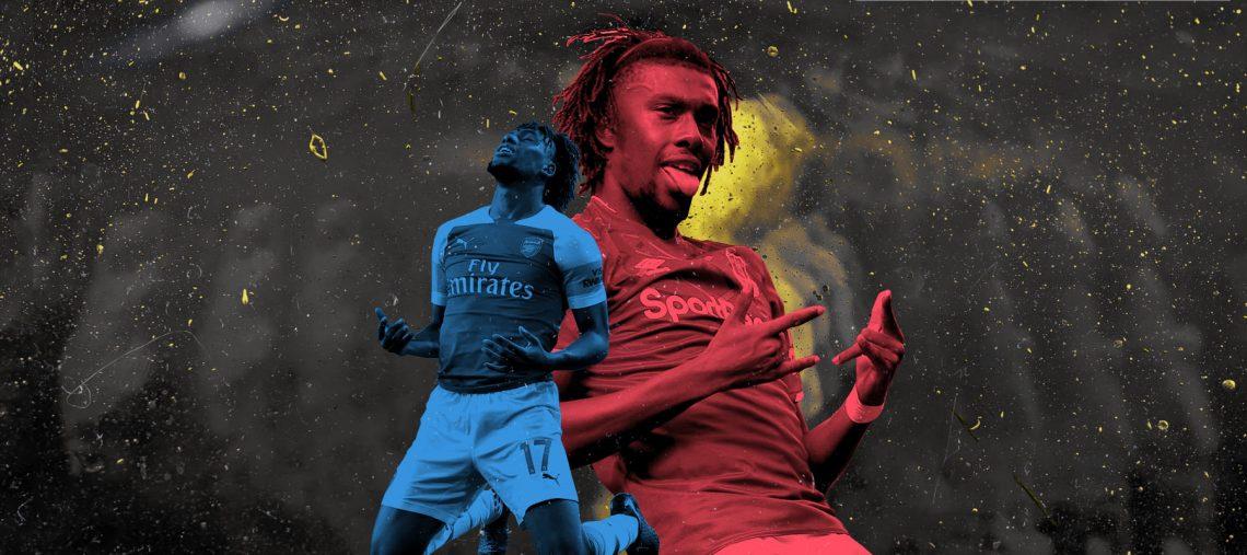 Alex Iwobi at Everton vs. Alex Iwobi at Arsenal